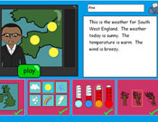 Write a weather report for your area and hear it narrate back